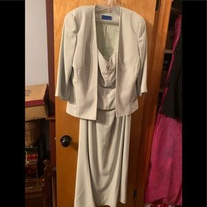 Strapless dress with cardigan